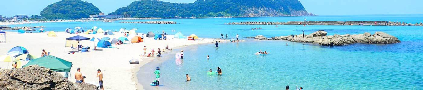 Takeno Beach in the summer
